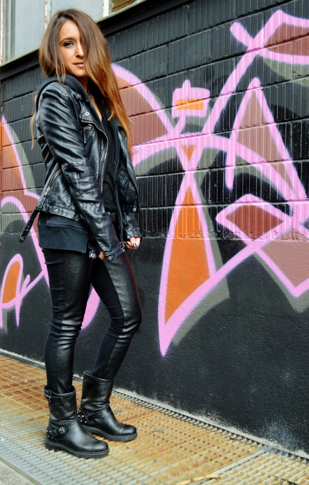 BLACK, LEATHER AND SILVER