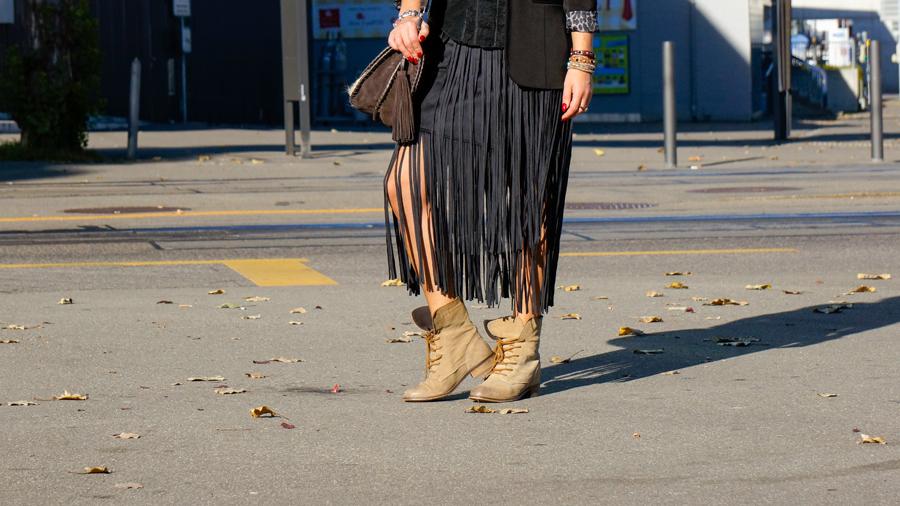 Fringe Skirt Zara