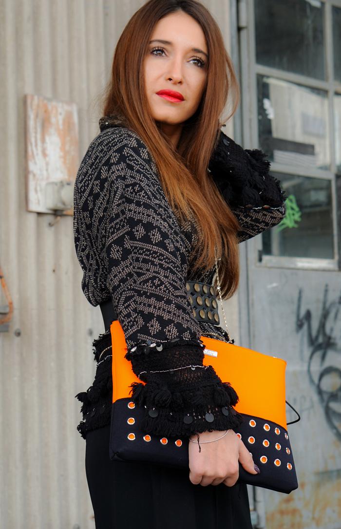 Teva Schuhe, Loubay Bag, Mango Pants and Zara Kimono 05