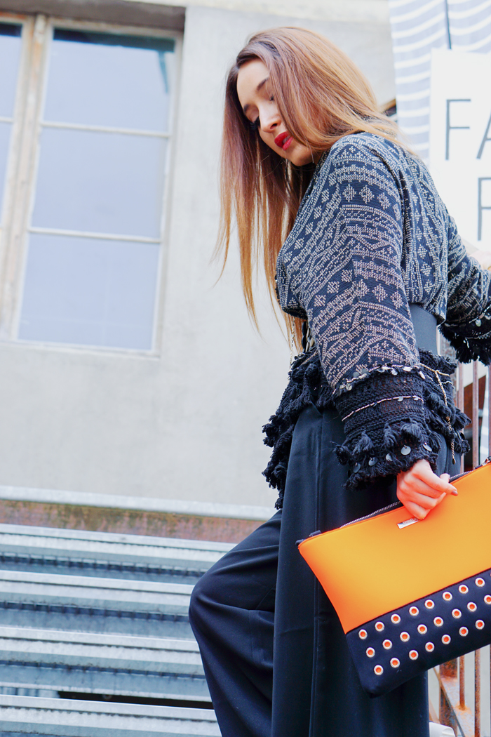 Teva Schuhe, Loubay Bag, Mango Pants and Zara Kimono 08