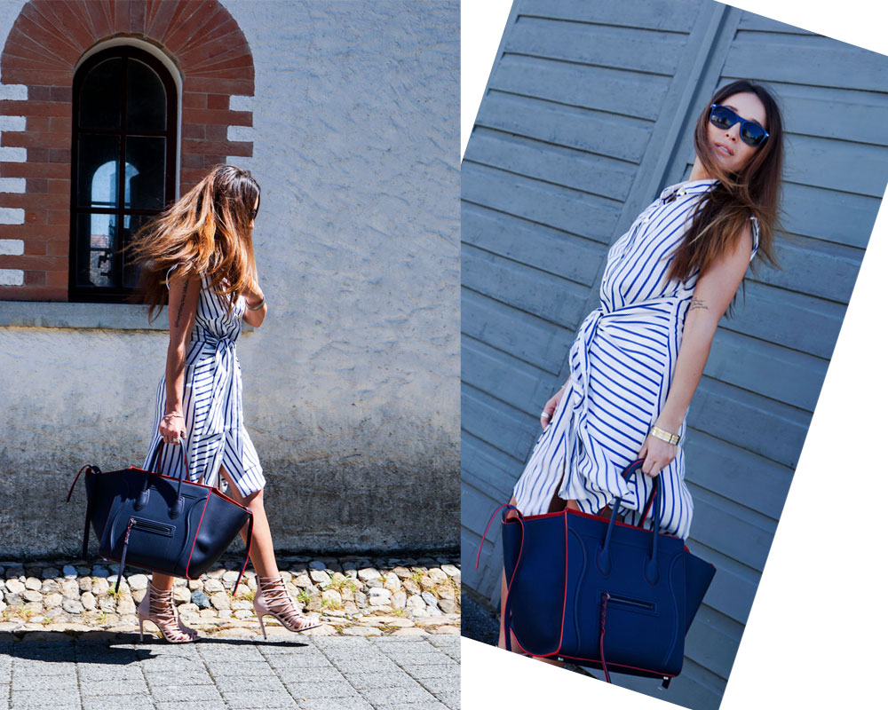 Celine Bag, Zara Shoes, Closed Dress